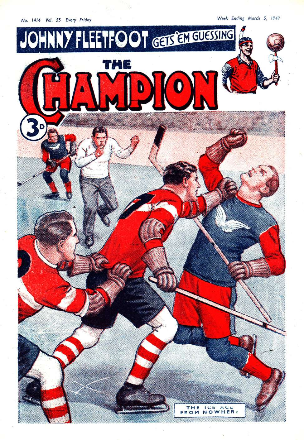 Comic Book Cover For The Champion 1414