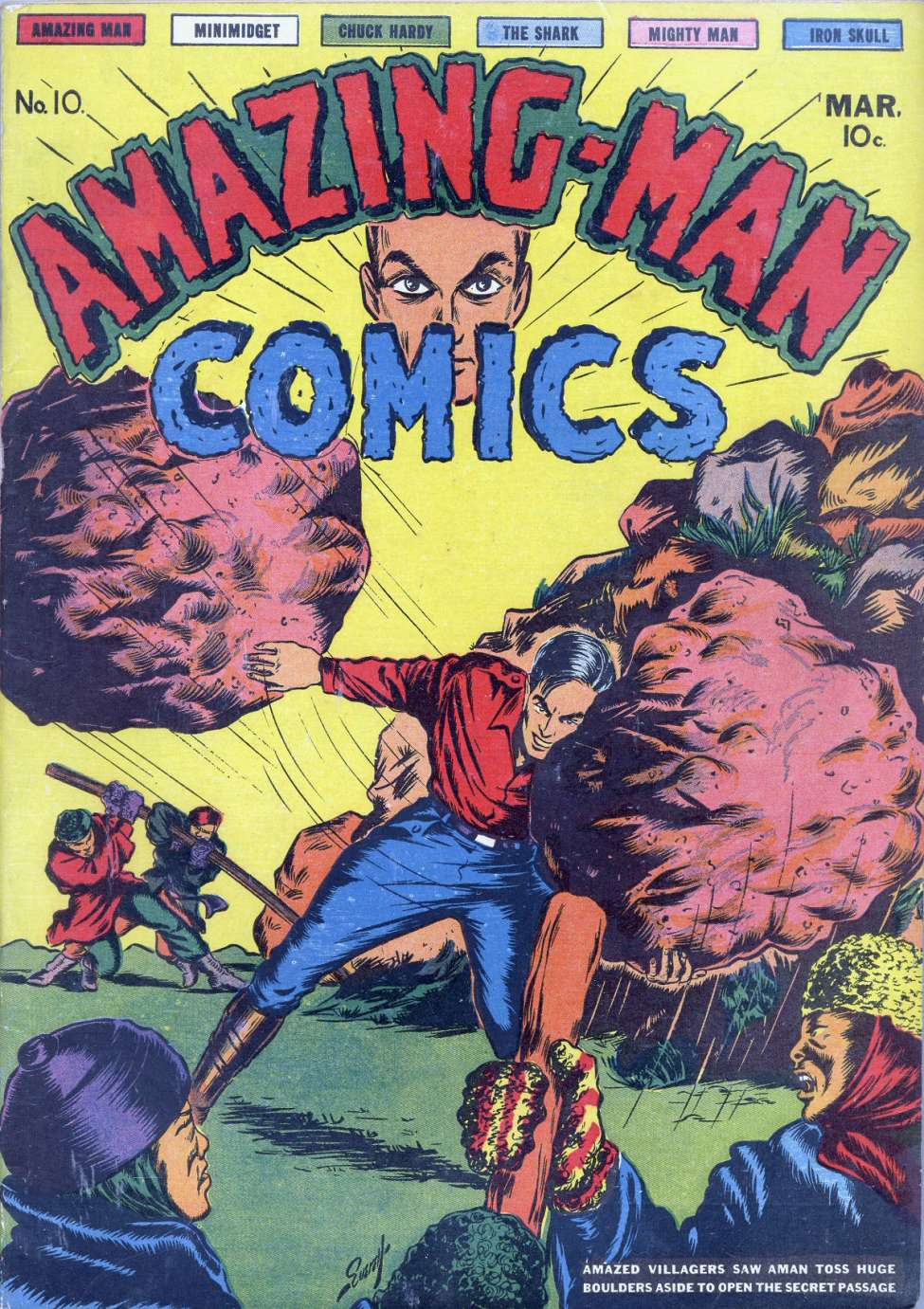Comic Book Cover For Amazing Man Collection 2