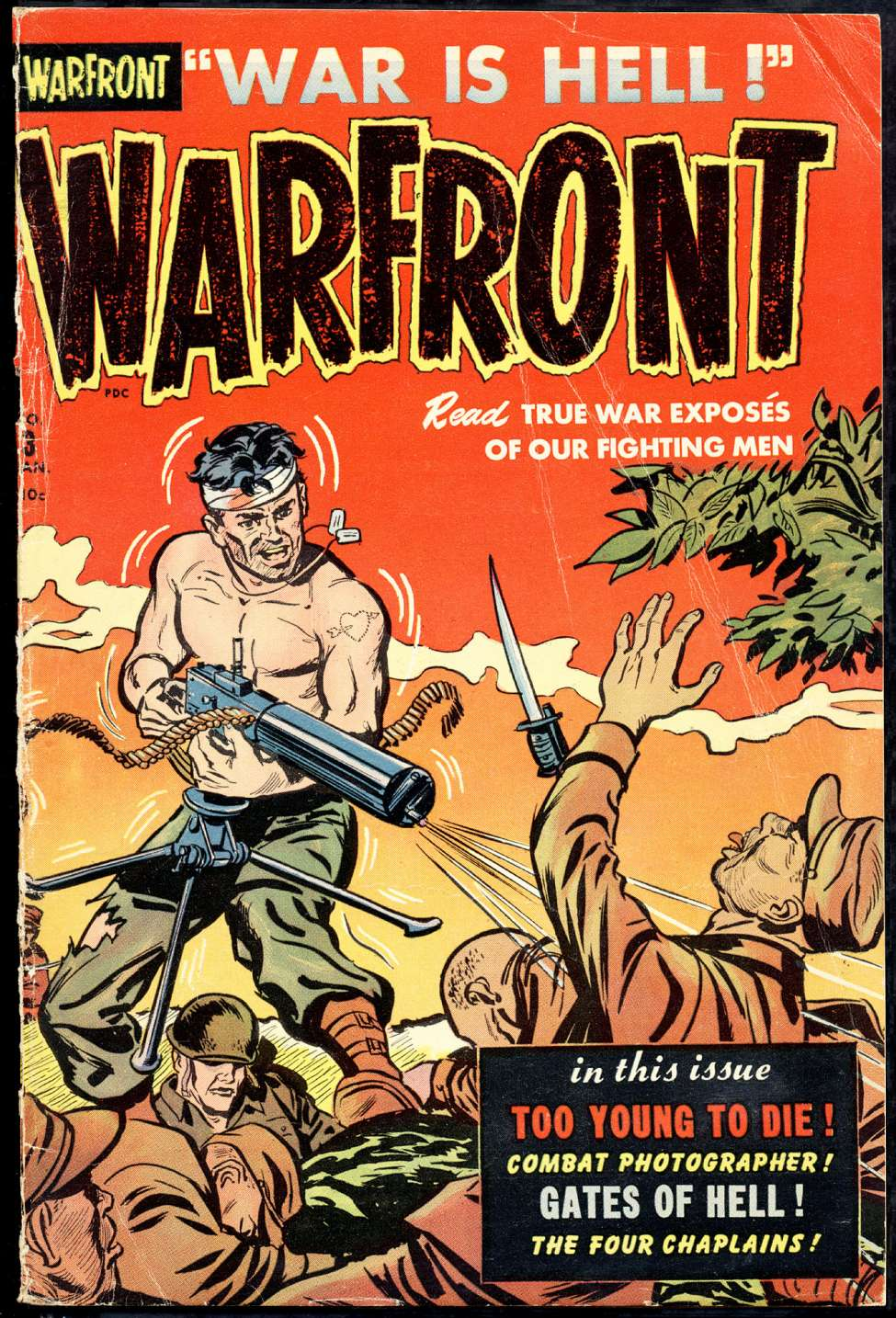 Comic Book Cover For Warfront #3