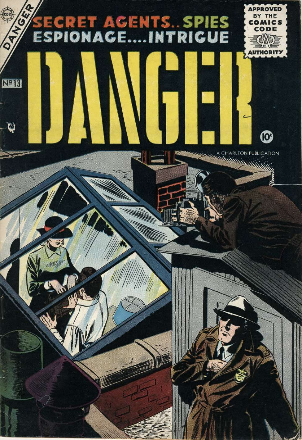 Comic Book Cover For Danger #13