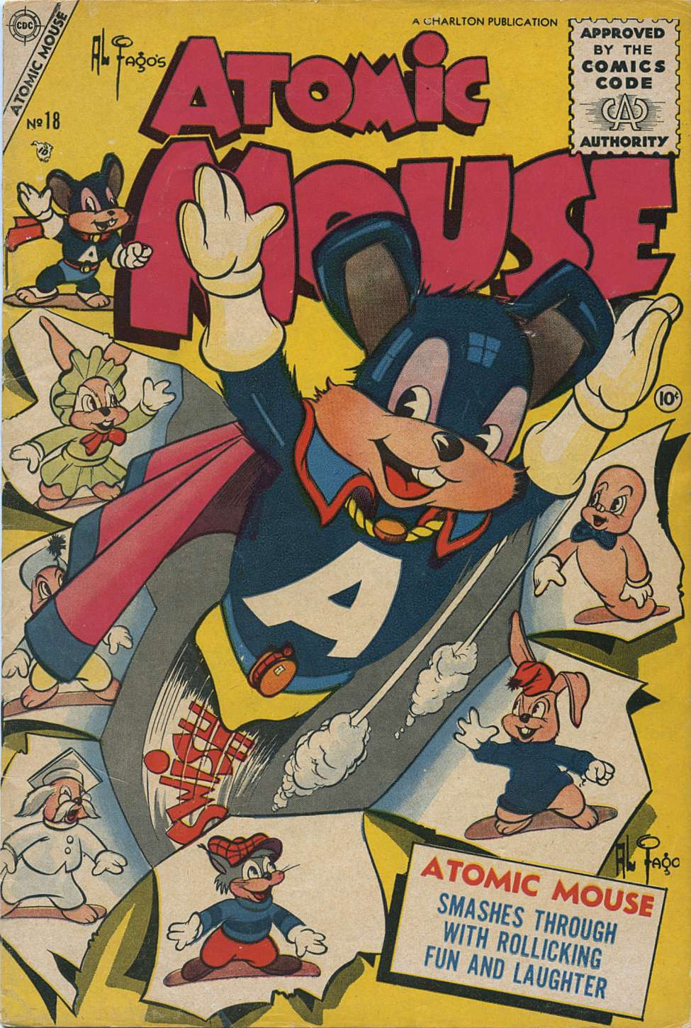 Comic Book Cover For Atomic Mouse #18