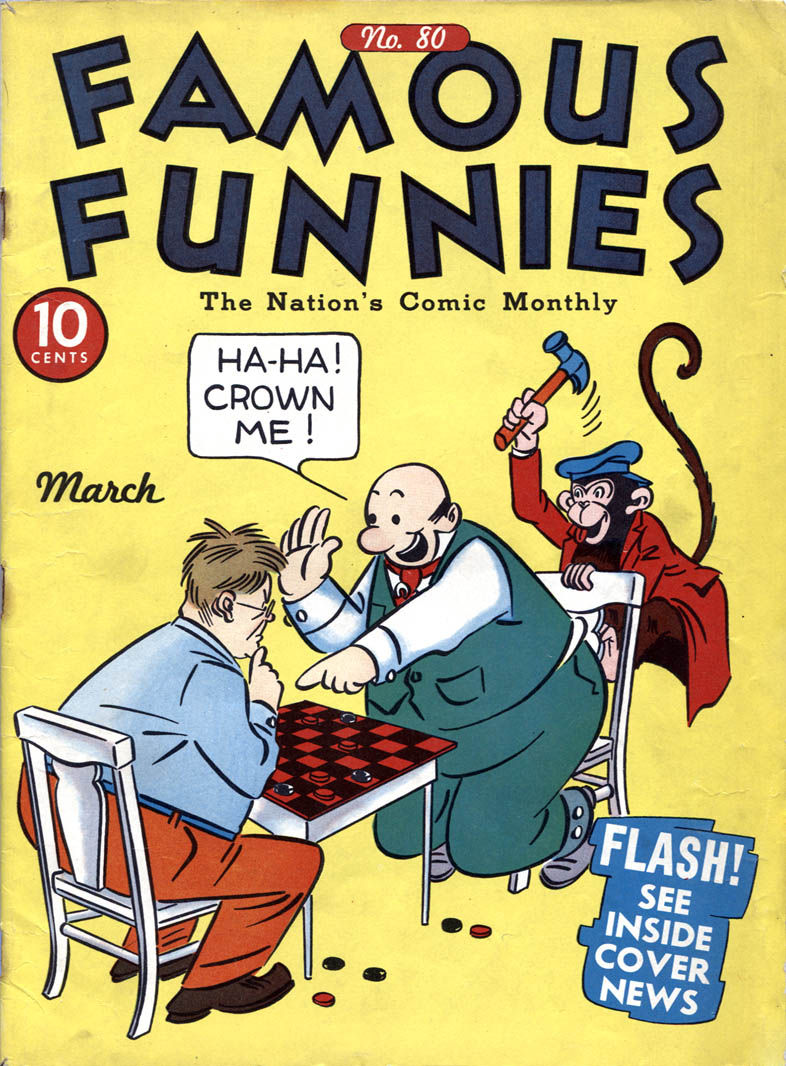 Comic Book Cover For Famous Funnies #80