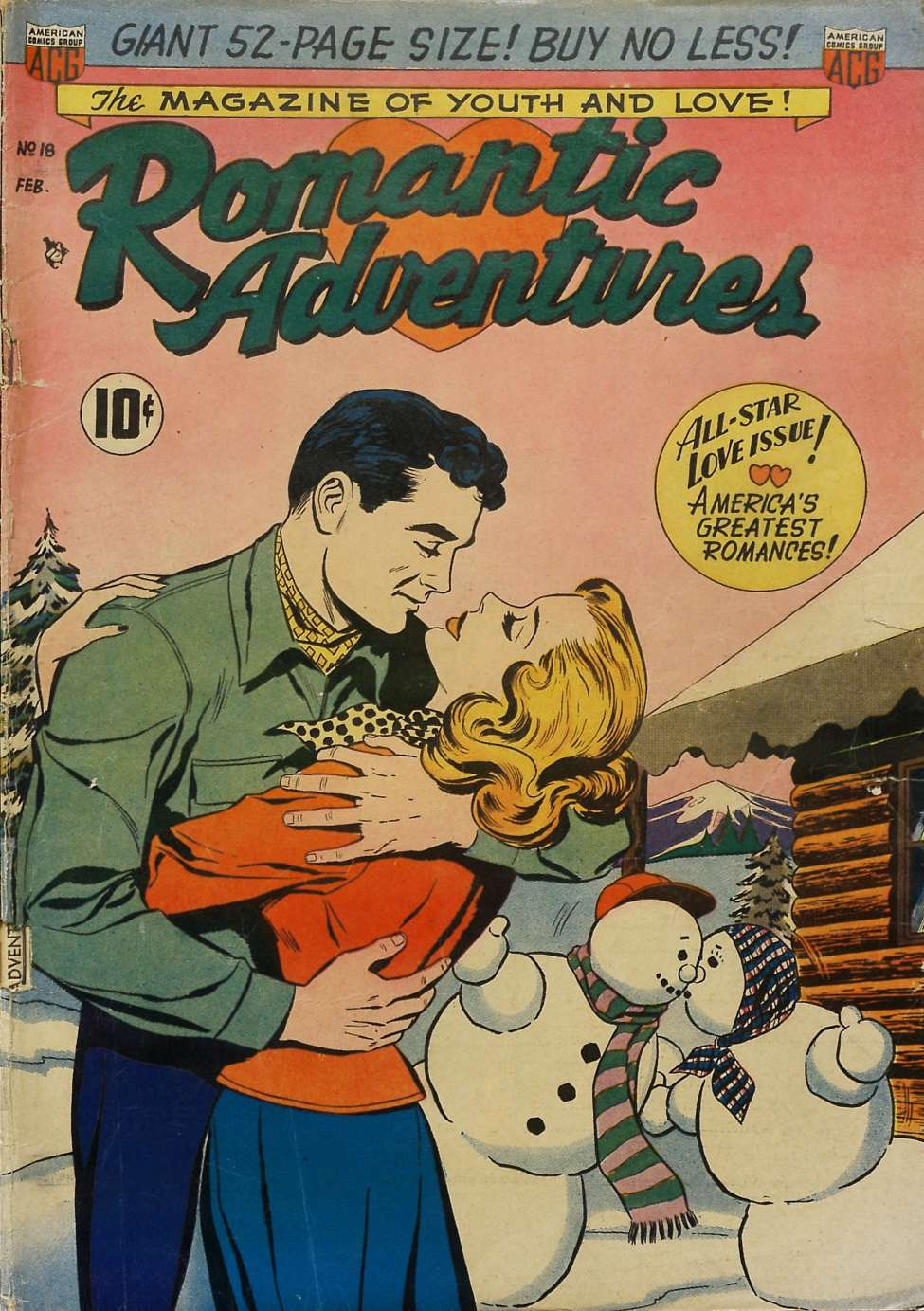 Comic Book Cover For Romantic Adventures #18