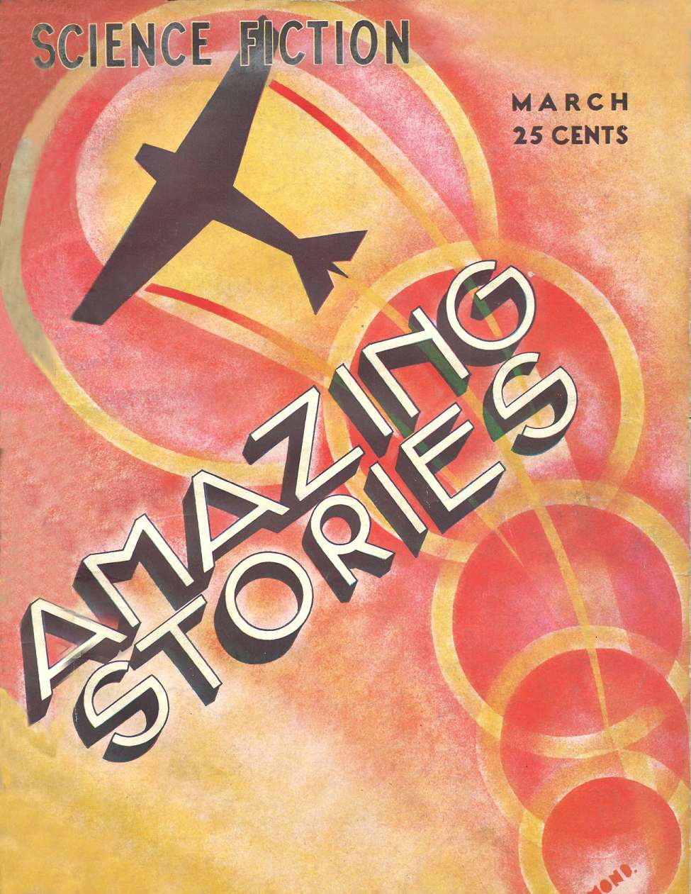 Comic Book Cover For Amazing Stories v07 12 - The Tomb of Time - Richard Tooker