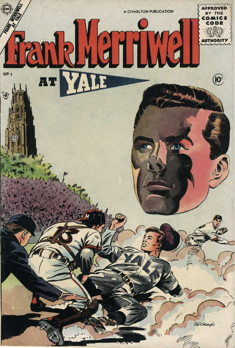Comic Book Cover For Frank Merriwell at Yale #1