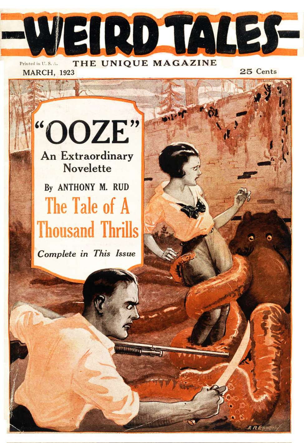 Comic Book Cover For Weird Tales v01 01 - Ooze - Anthony M. Rud