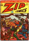 Cover For Zip Comics 34