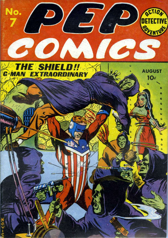 Comic Book Cover For Pep Comics #7