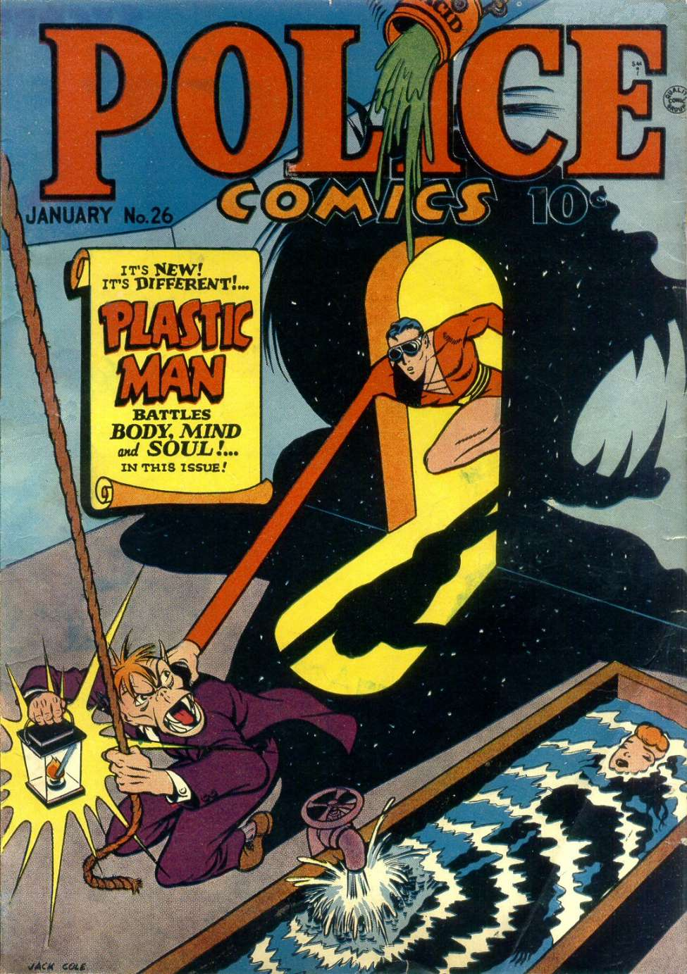 Comic Book Cover For Police Comics #26