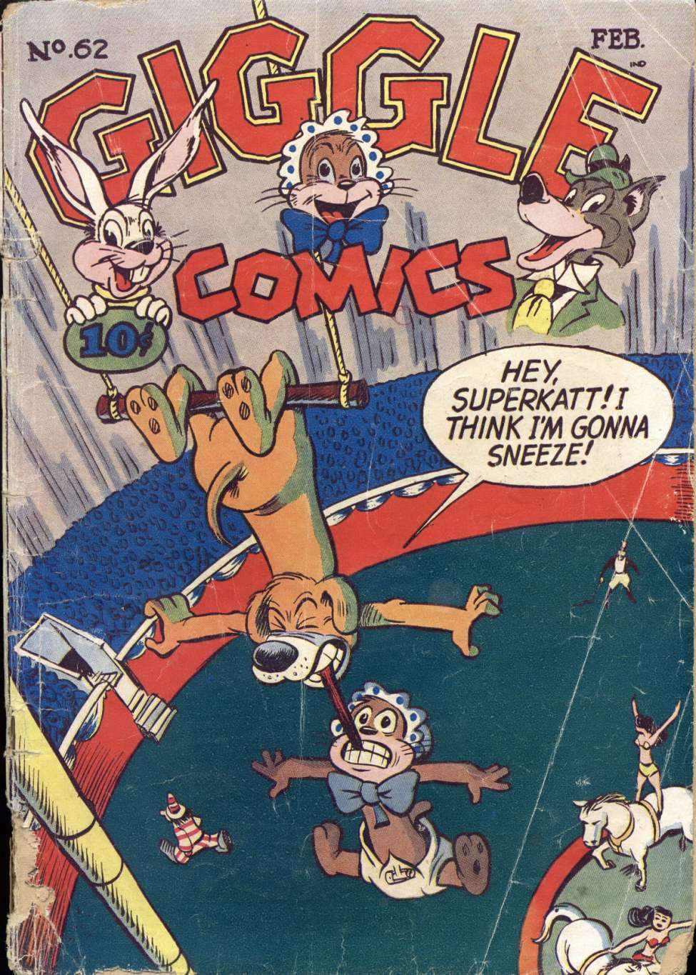 Comic Book Cover For Giggle Comics #62