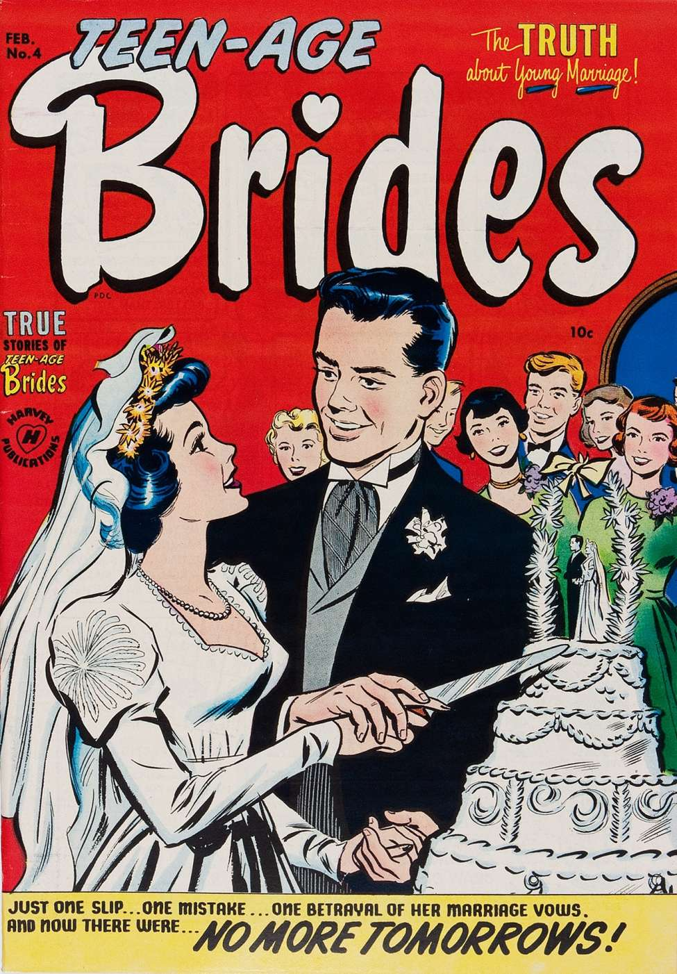 Comic Book Cover For Teen-Age Brides #4 - Version 2
