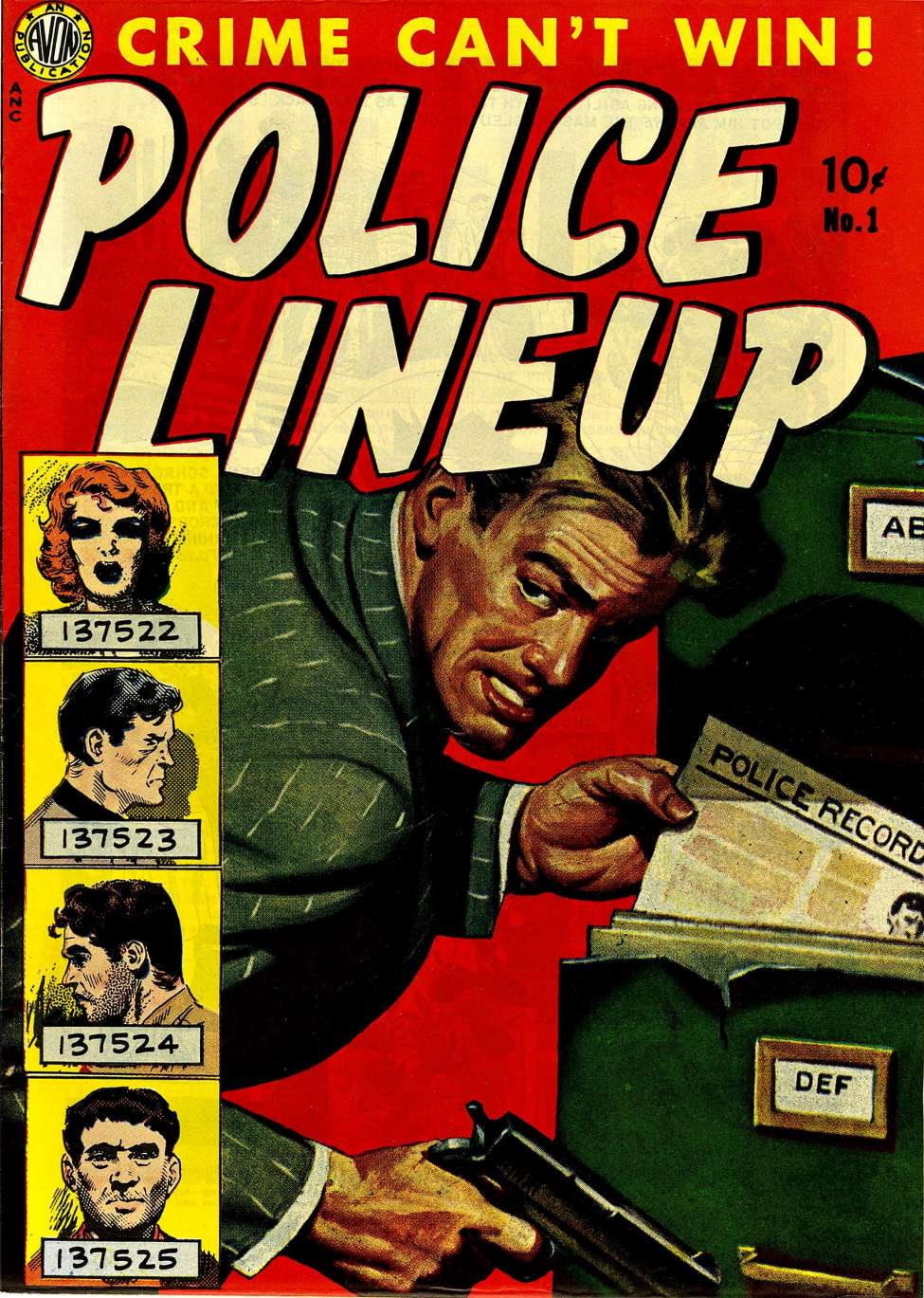 Comic Book Cover For Police Line-Up #1