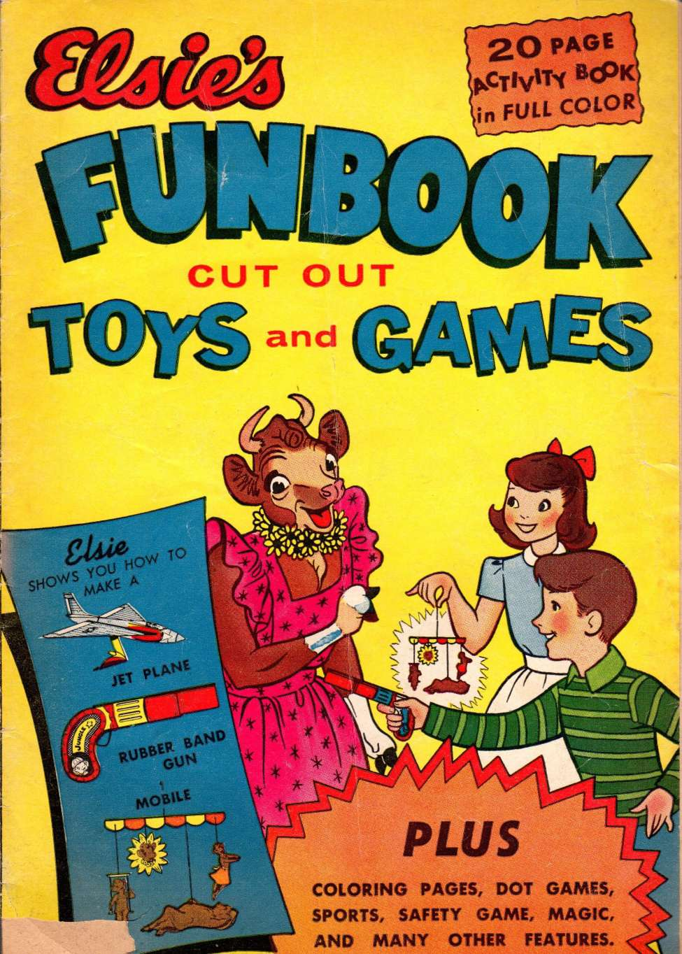 Comic Book Cover For Elsie's Fun Book