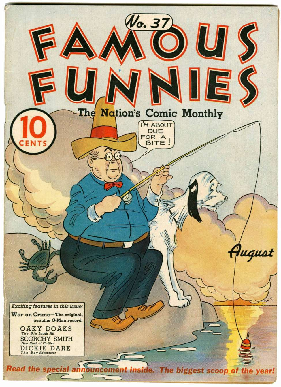 Comic Book Cover For Famous Funnies #37