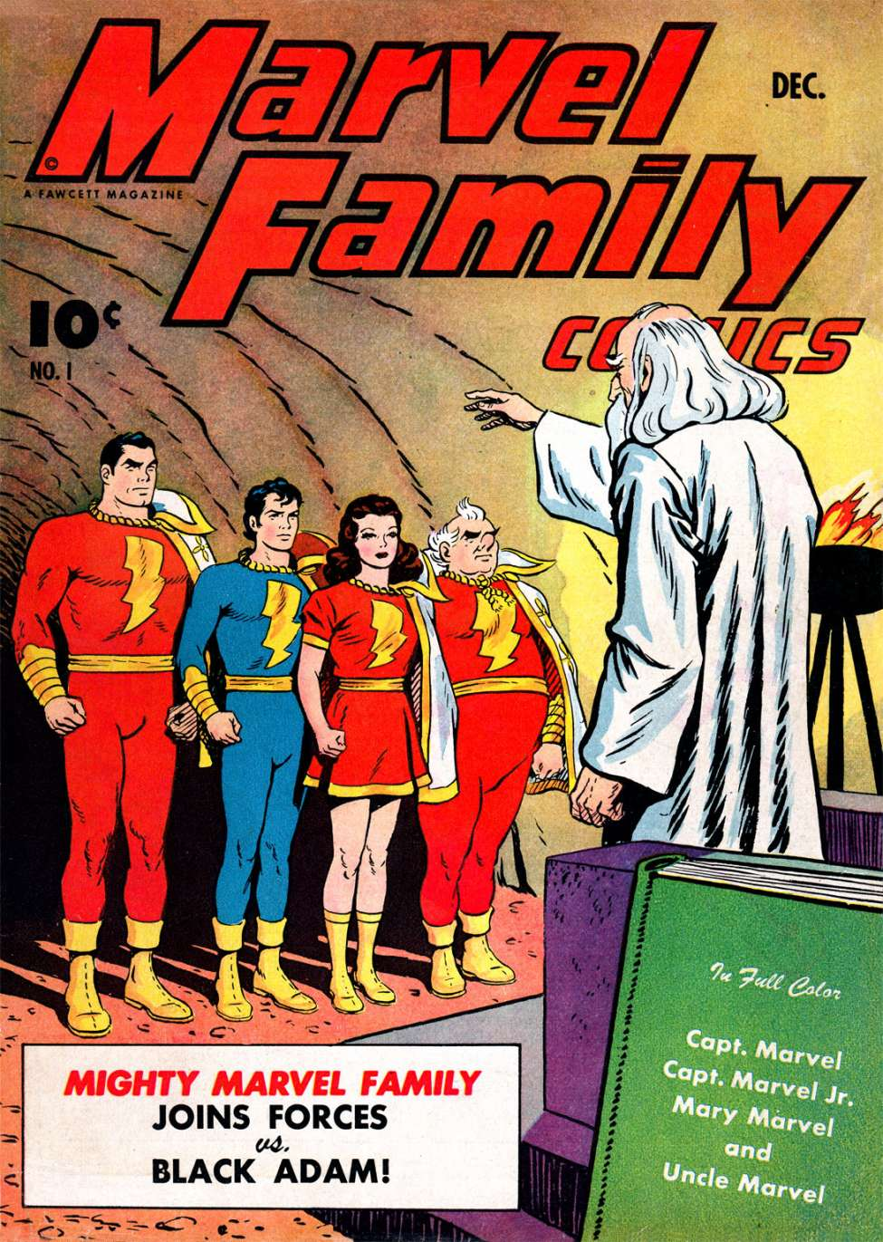 Comic Book Cover For The Marvel Family #1