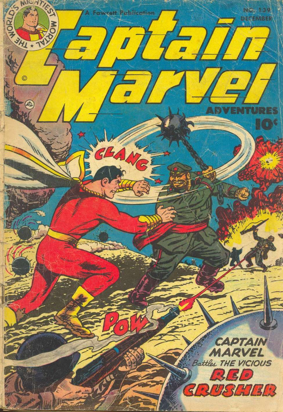 Comic Book Cover For Captain Marvel Adventures #139