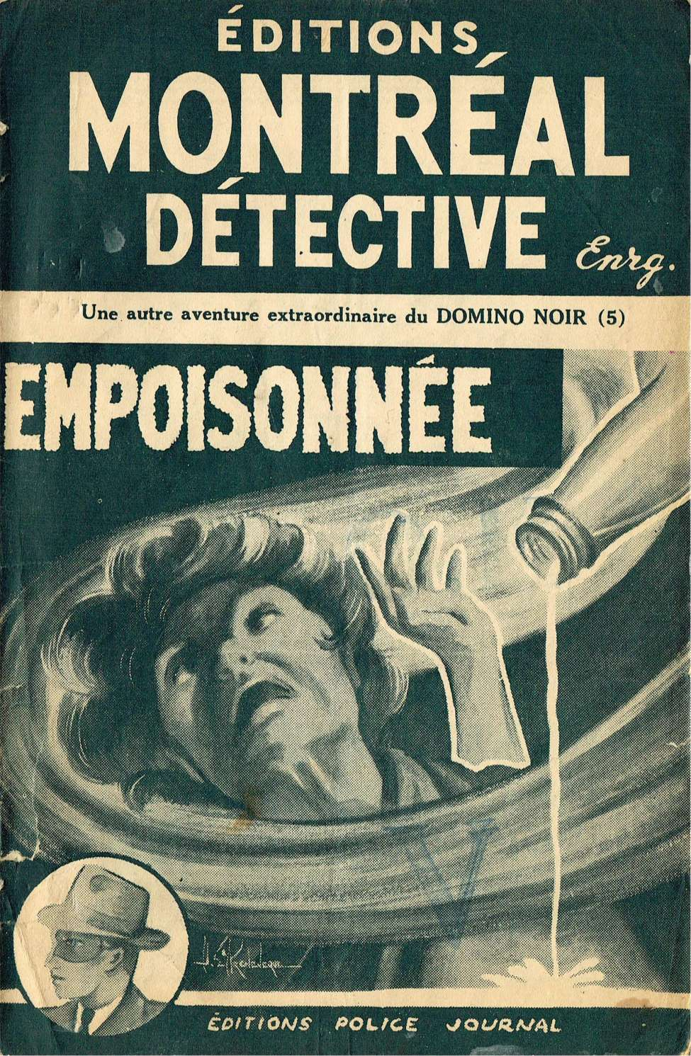 Comic Book Cover For Domino Noir v2 05 - Empoisonné