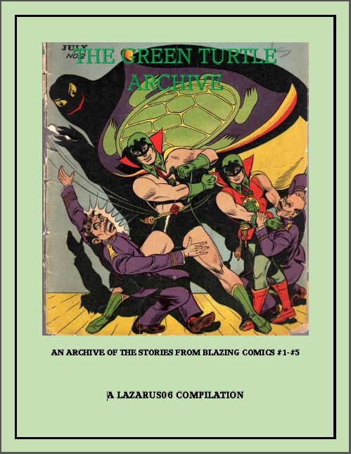 Comic Book Cover For The Green Turtle Archive