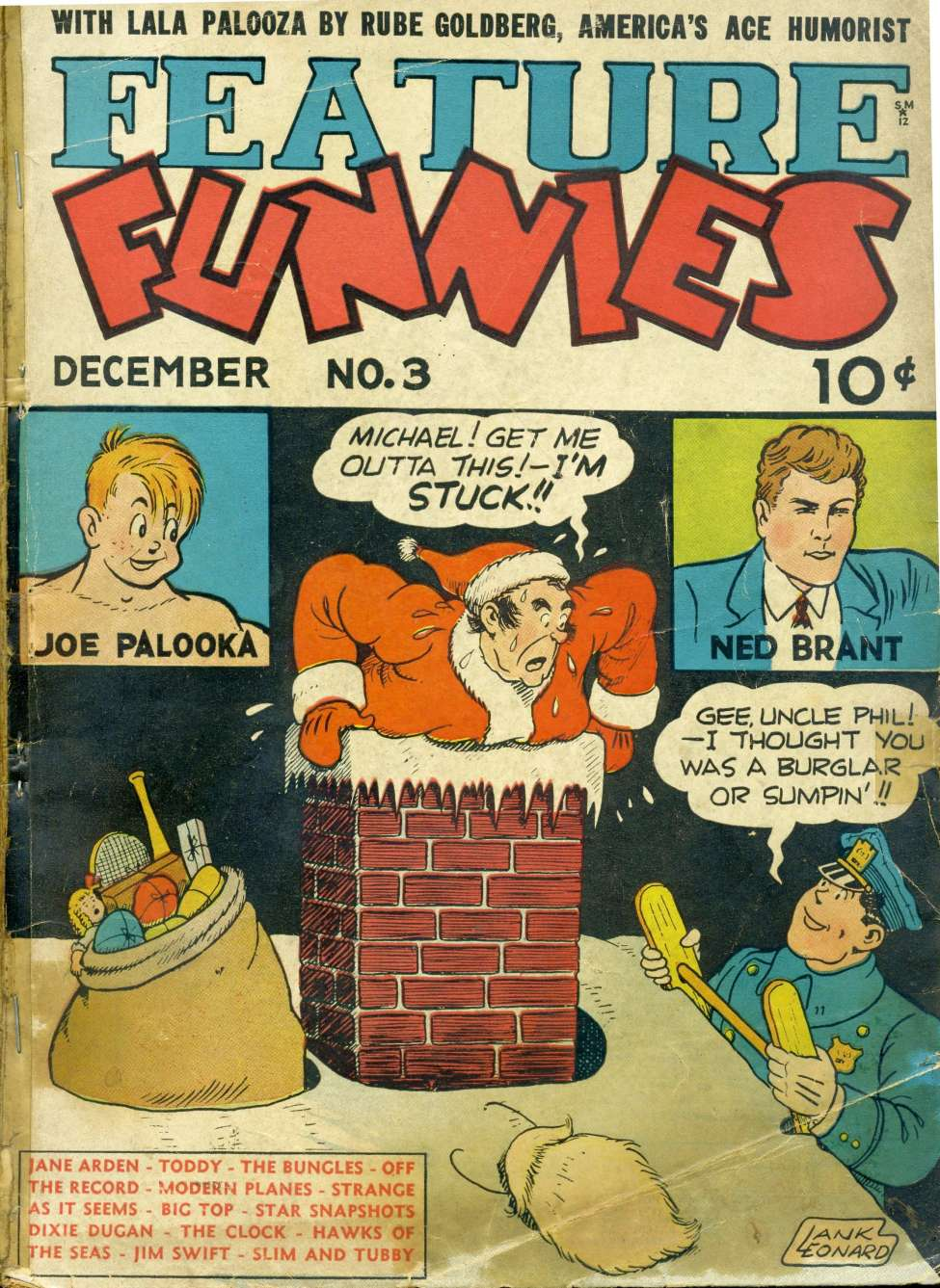 Comic Book Cover For Feature Funnies #3