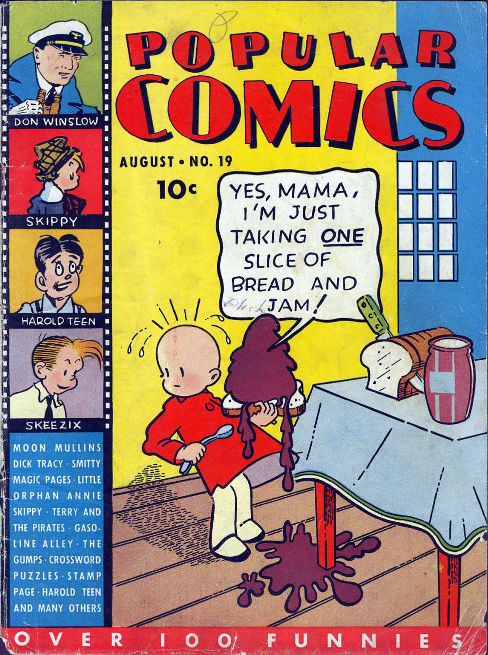 Comic Book Cover For Popular Comics #19