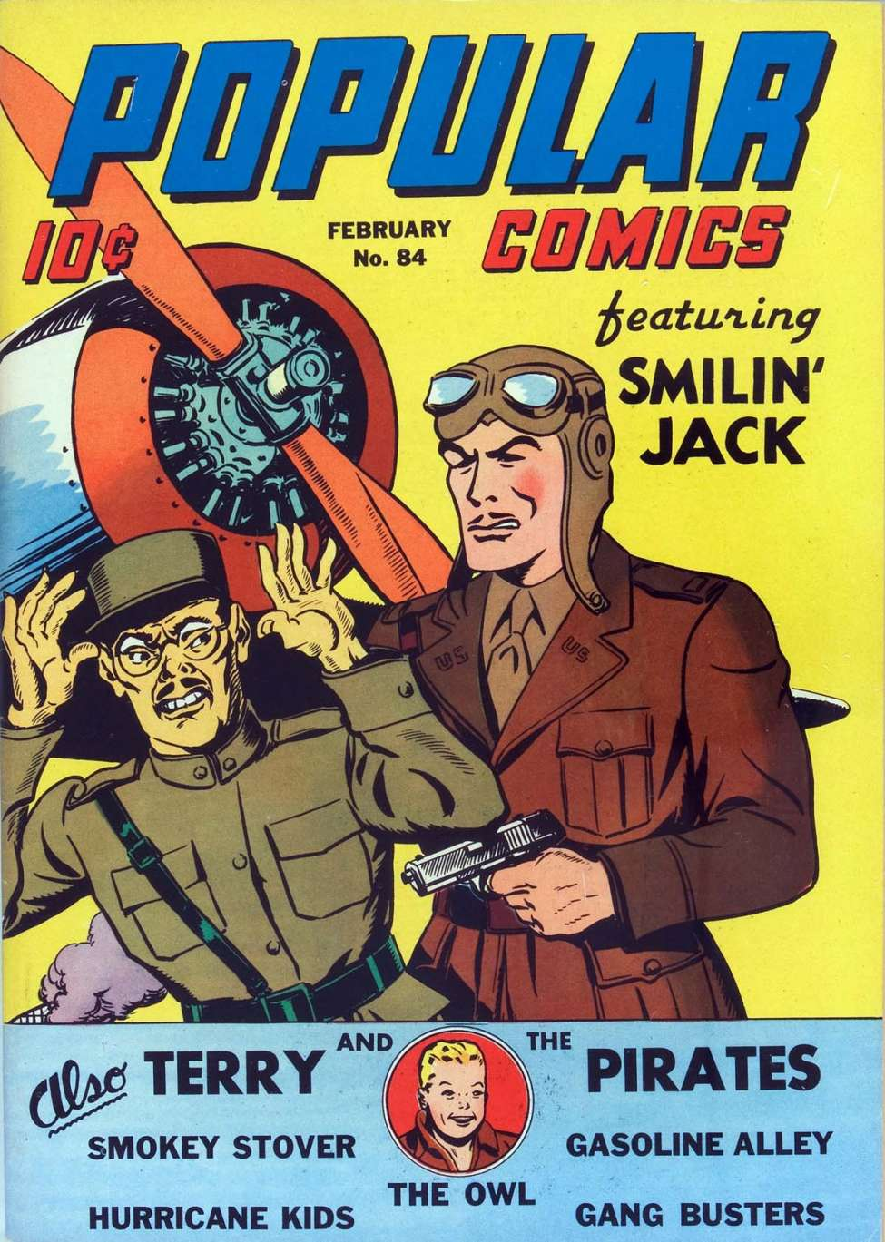 Comic Book Cover For Popular Comics #84