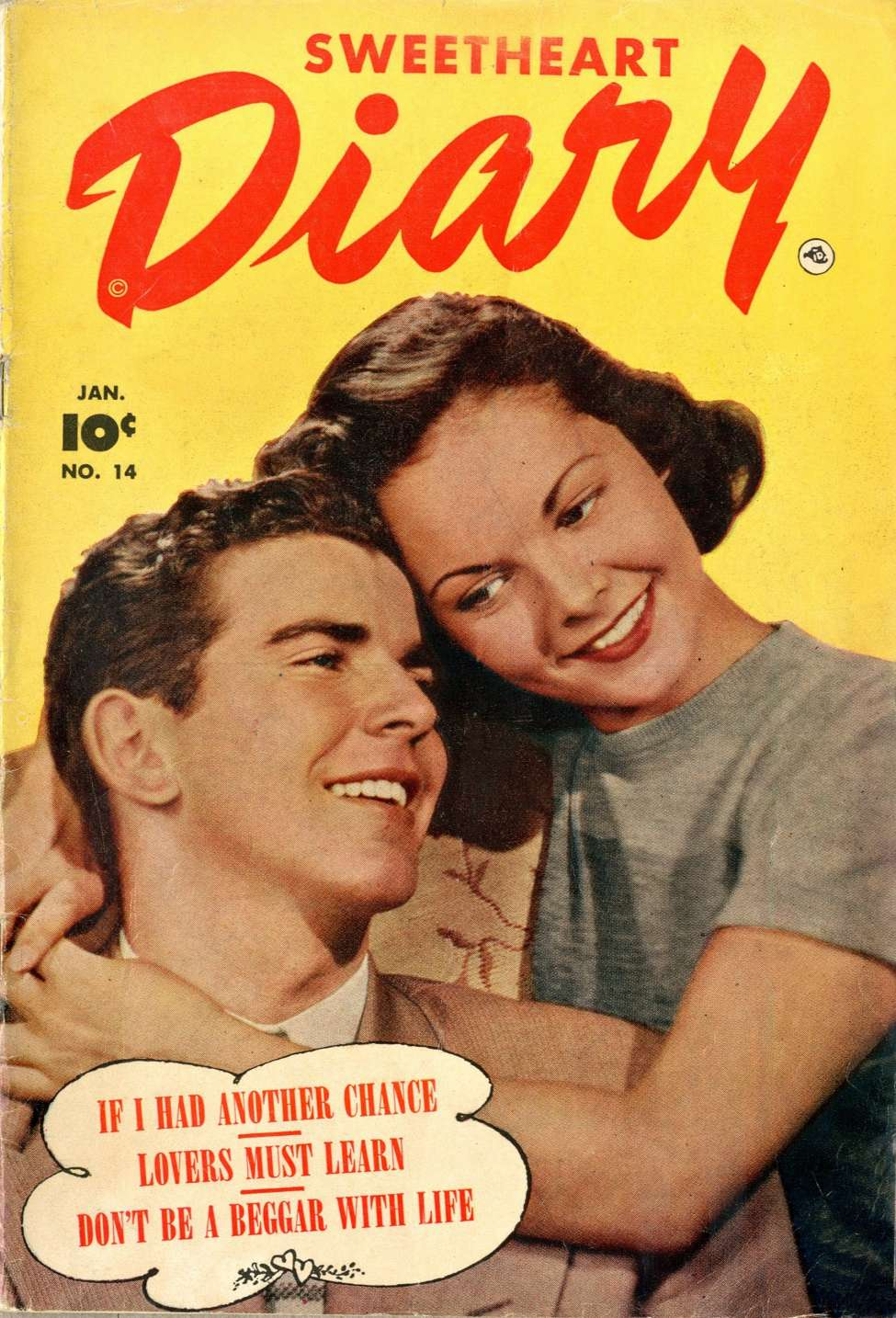 Comic Book Cover For Sweetheart Diary #14