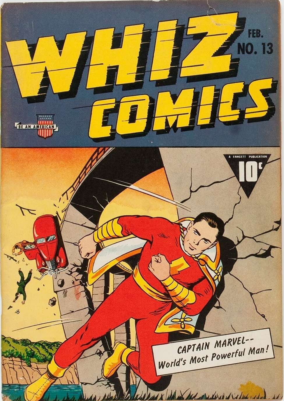 Comic Book Cover For Whiz Comics #13