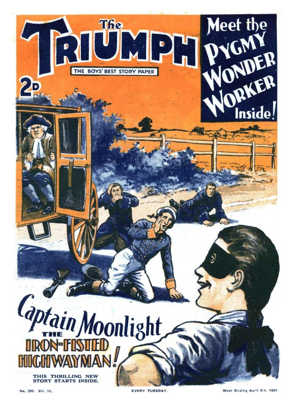 Comic Book Cover For The Triumph 390