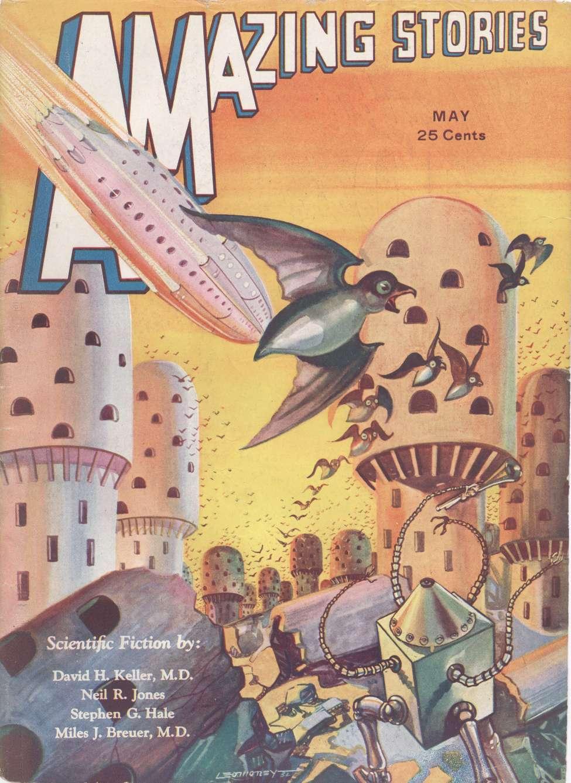 Comic Book Cover For Amazing Stories v07 02 - The Metal Doom - David H. Keller, M.D.