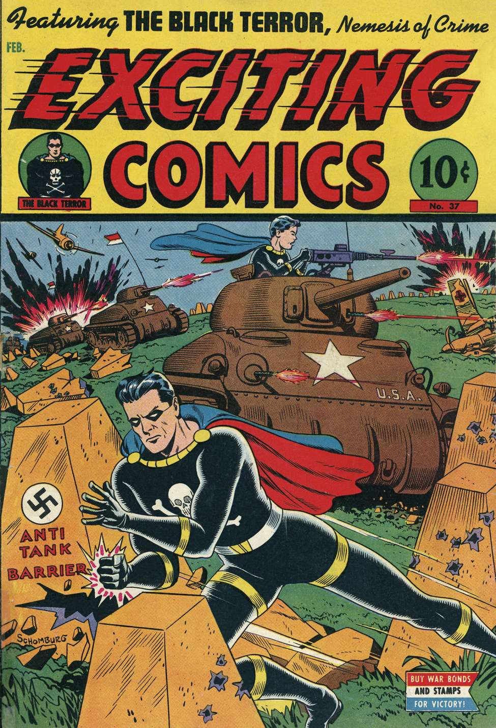 Comic Book Cover For Exciting Comics #37