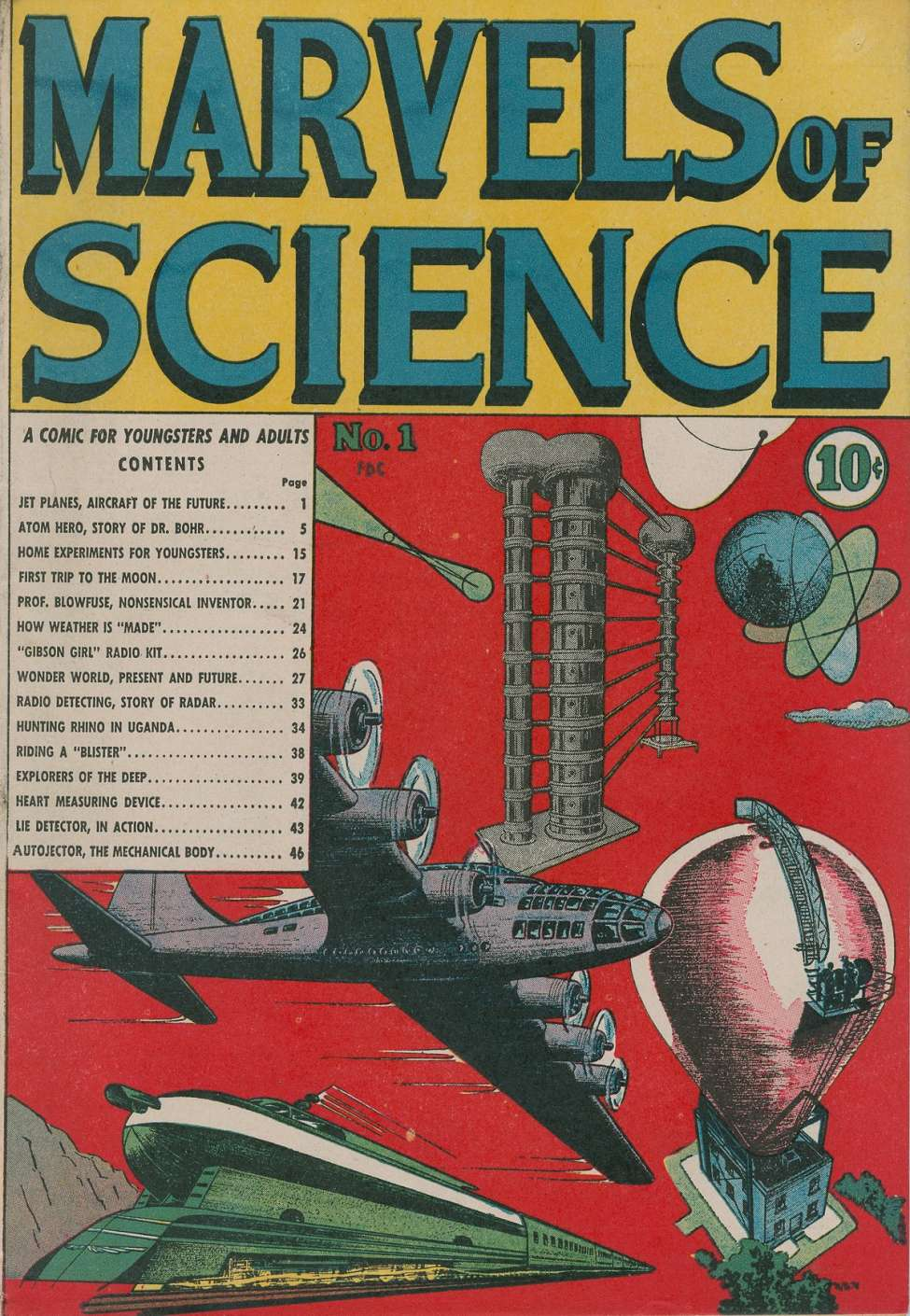 Comic Book Cover For Marvels of Science #1