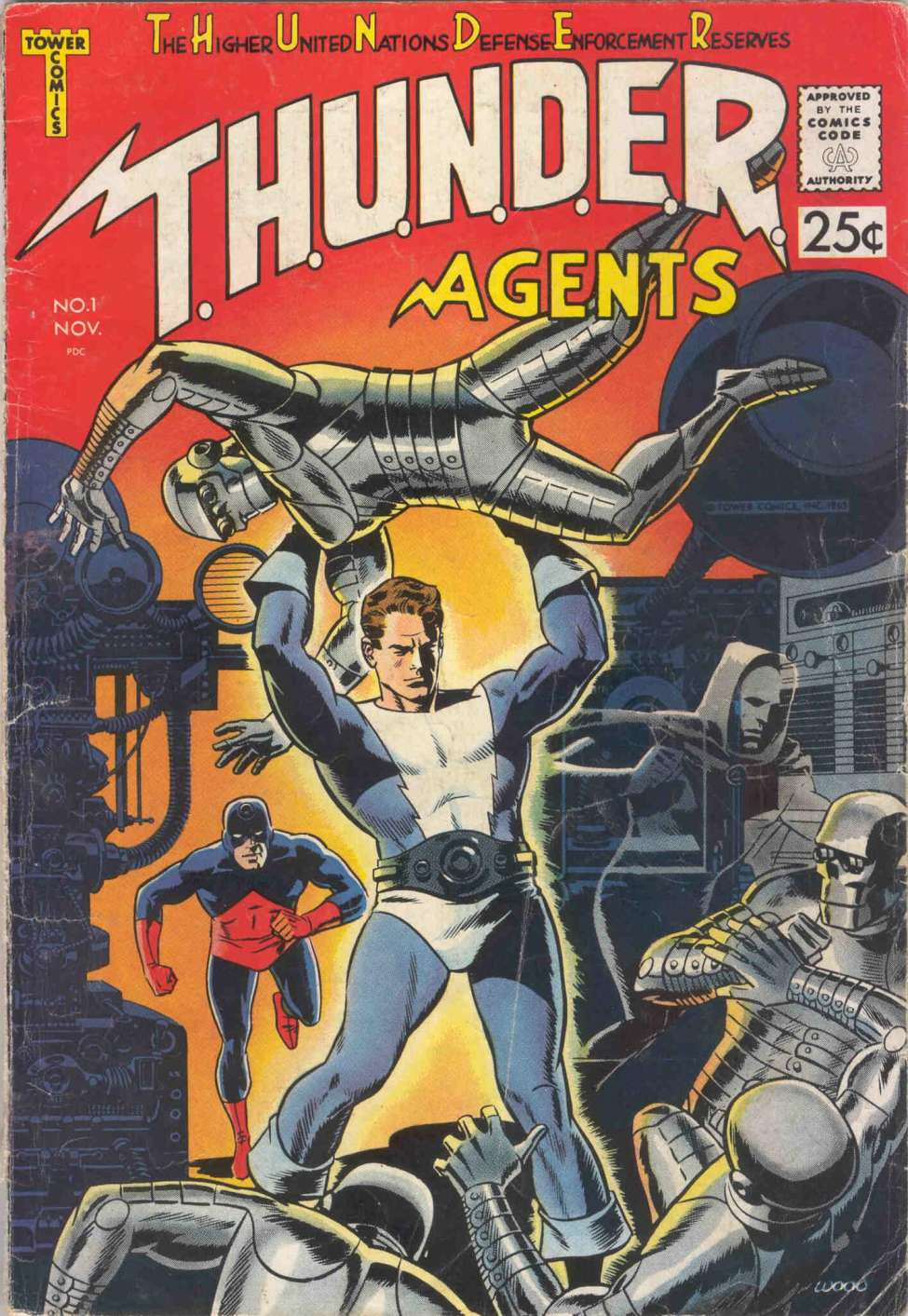 Comic Book Cover For T.H.U.N.D.E.R. Agents 01
