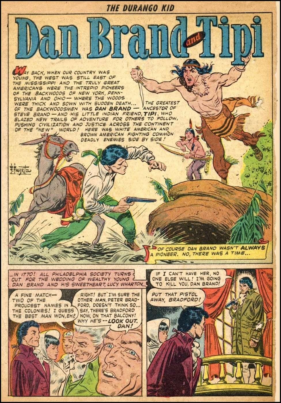 Comic Book Cover For Dan Brand And Tipi Pt. 1 (Frank Frazetta)
