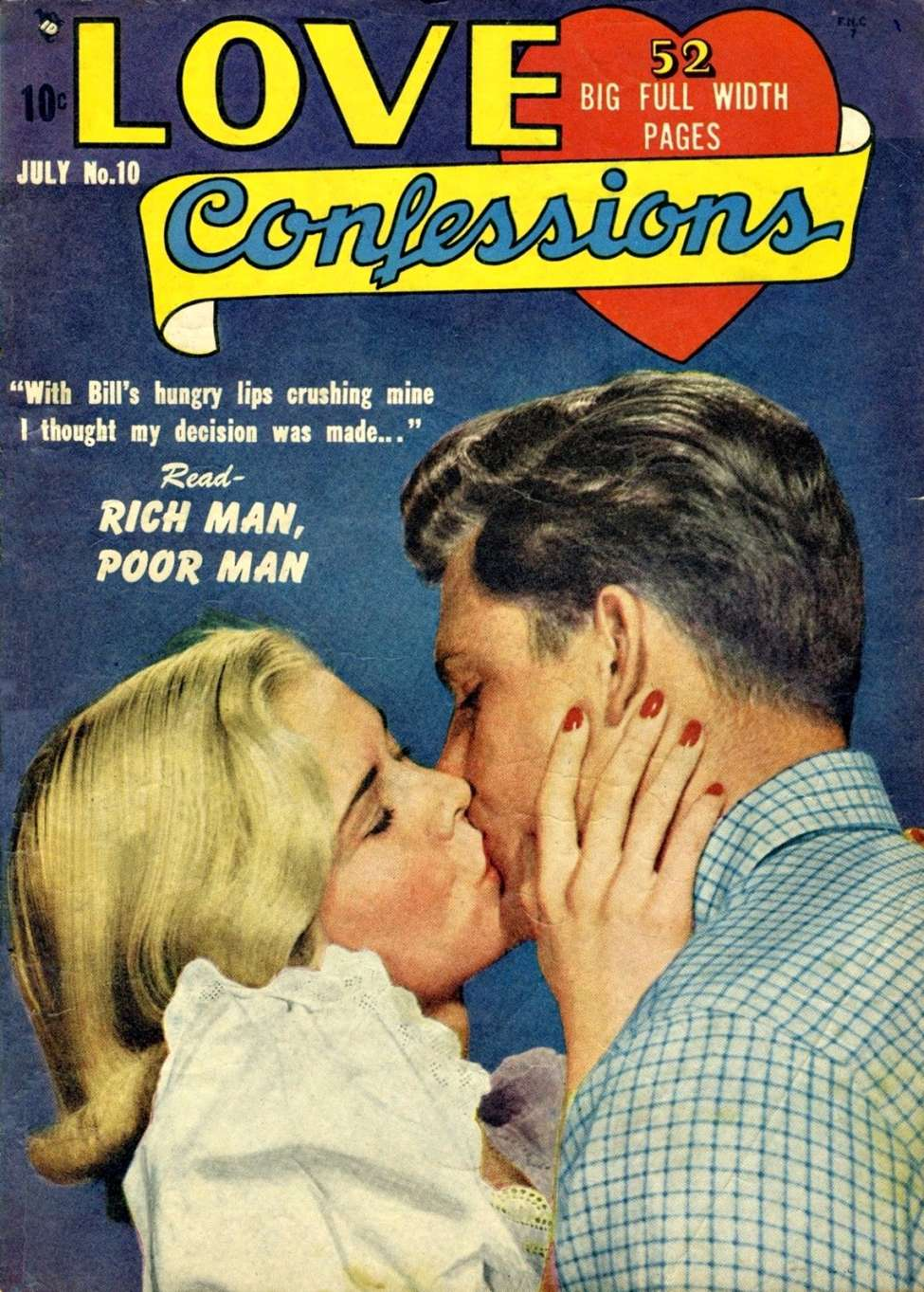 Comic Book Cover For Love Confessions #10