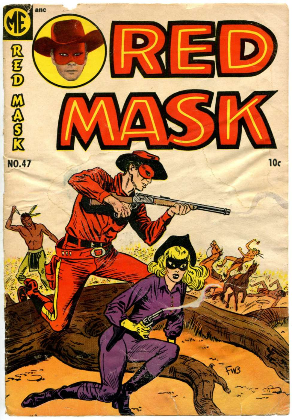 Comic Book Cover For Red Mask #47