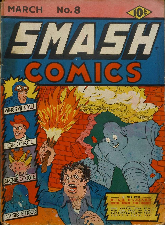 Comic Book Cover For Smash Comics #8