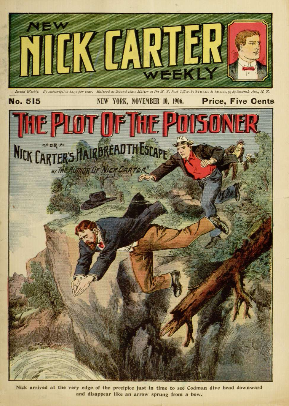 Comic Book Cover For New Nick Carter Weekly 515 - Plot of the Poisoner