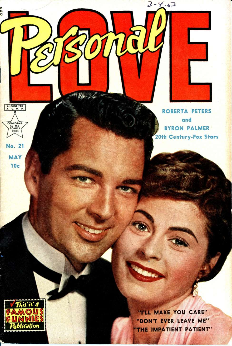 Comic Book Cover For Personal Love #21