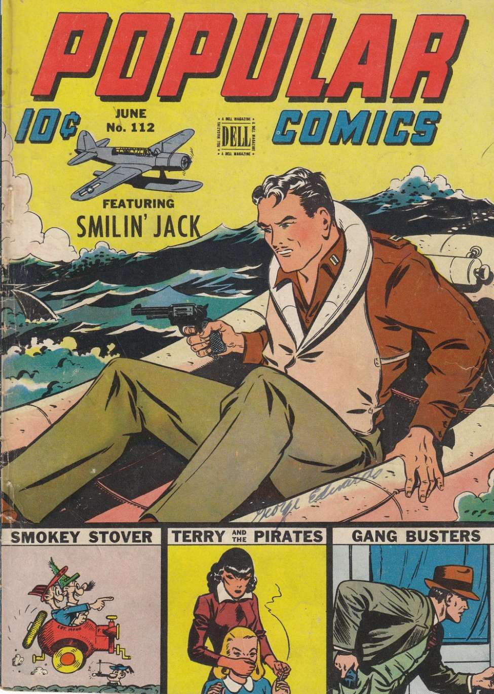 Comic Book Cover For Popular Comics #112