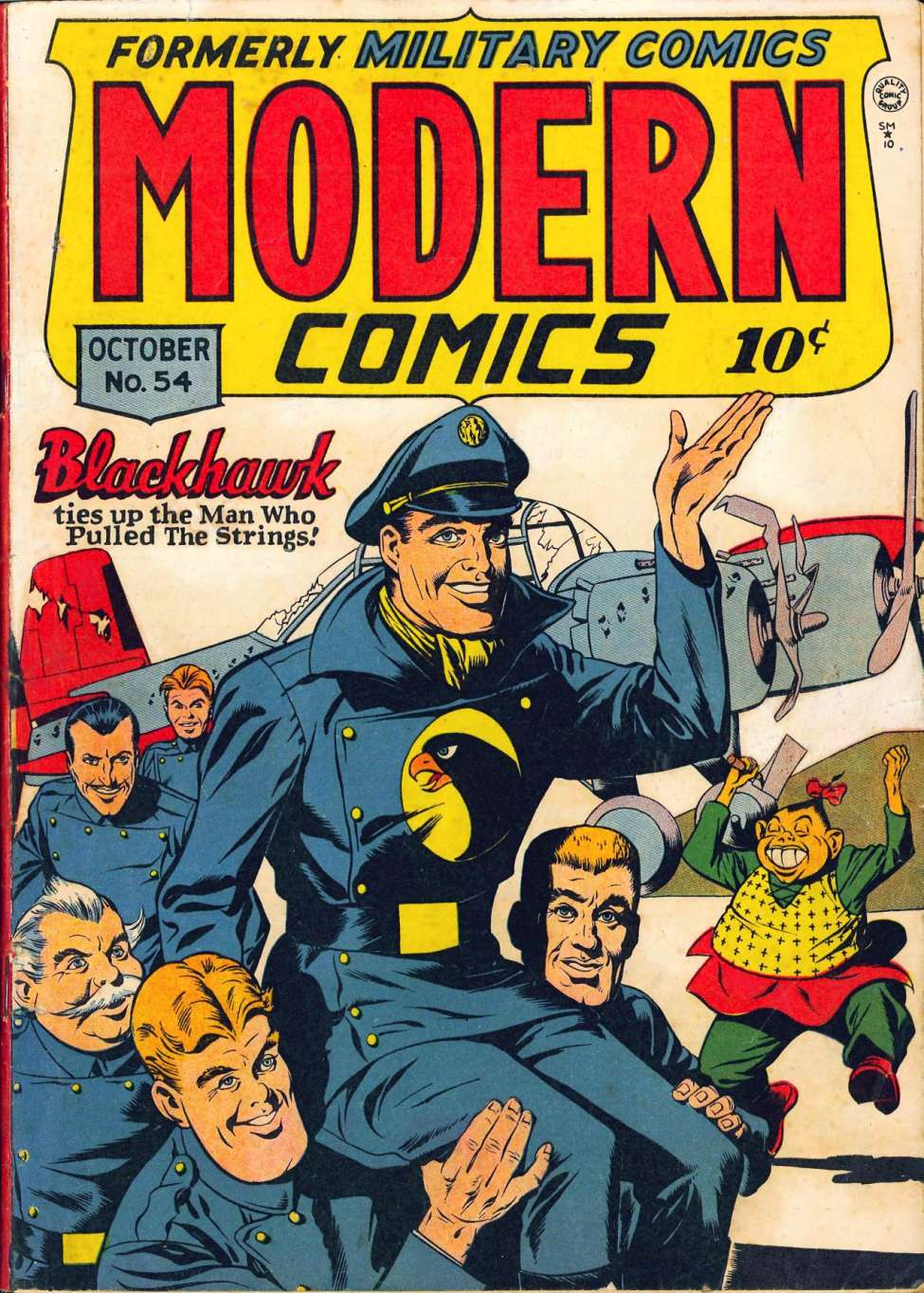 Comic Book Cover For Modern Comics #54