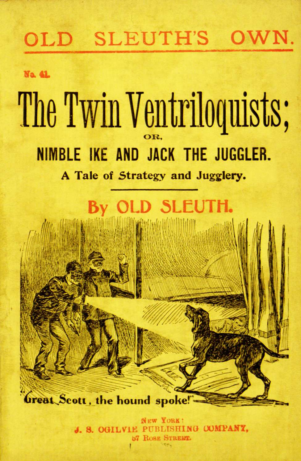Comic Book Cover For Old Sleuth's Own 041 The Twin Ventriloquists