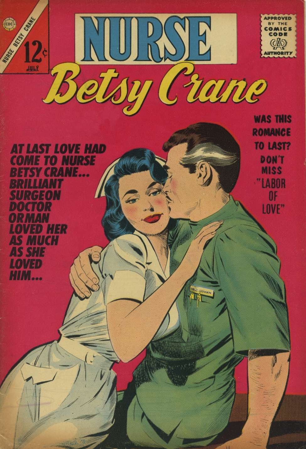 Comic Book Cover For Nurse Betsy Crane #23