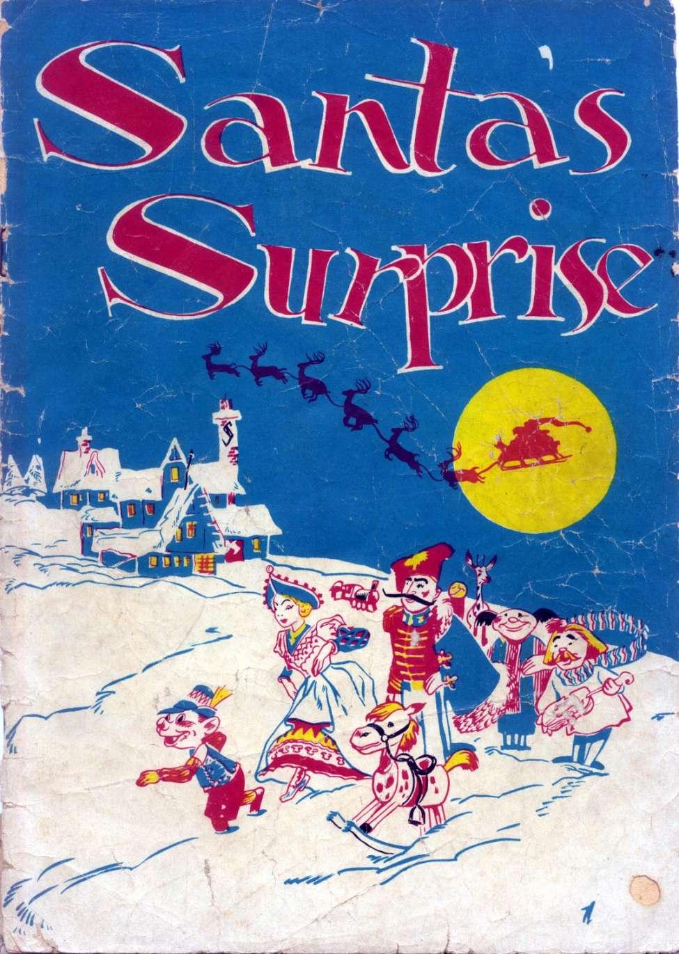 Comic Book Cover For Santas Surprise