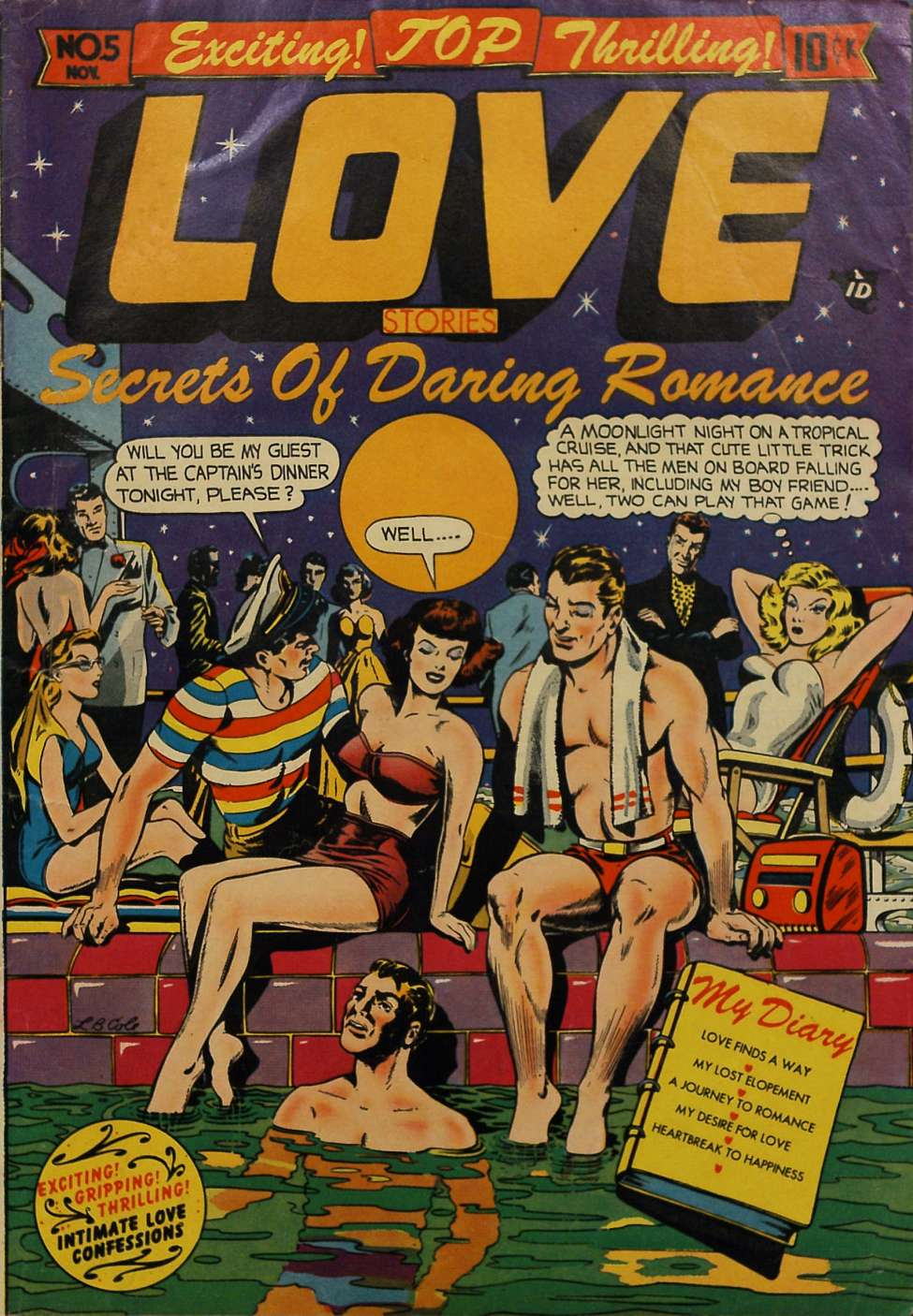 Comic Book Cover For Top Love Stories #5