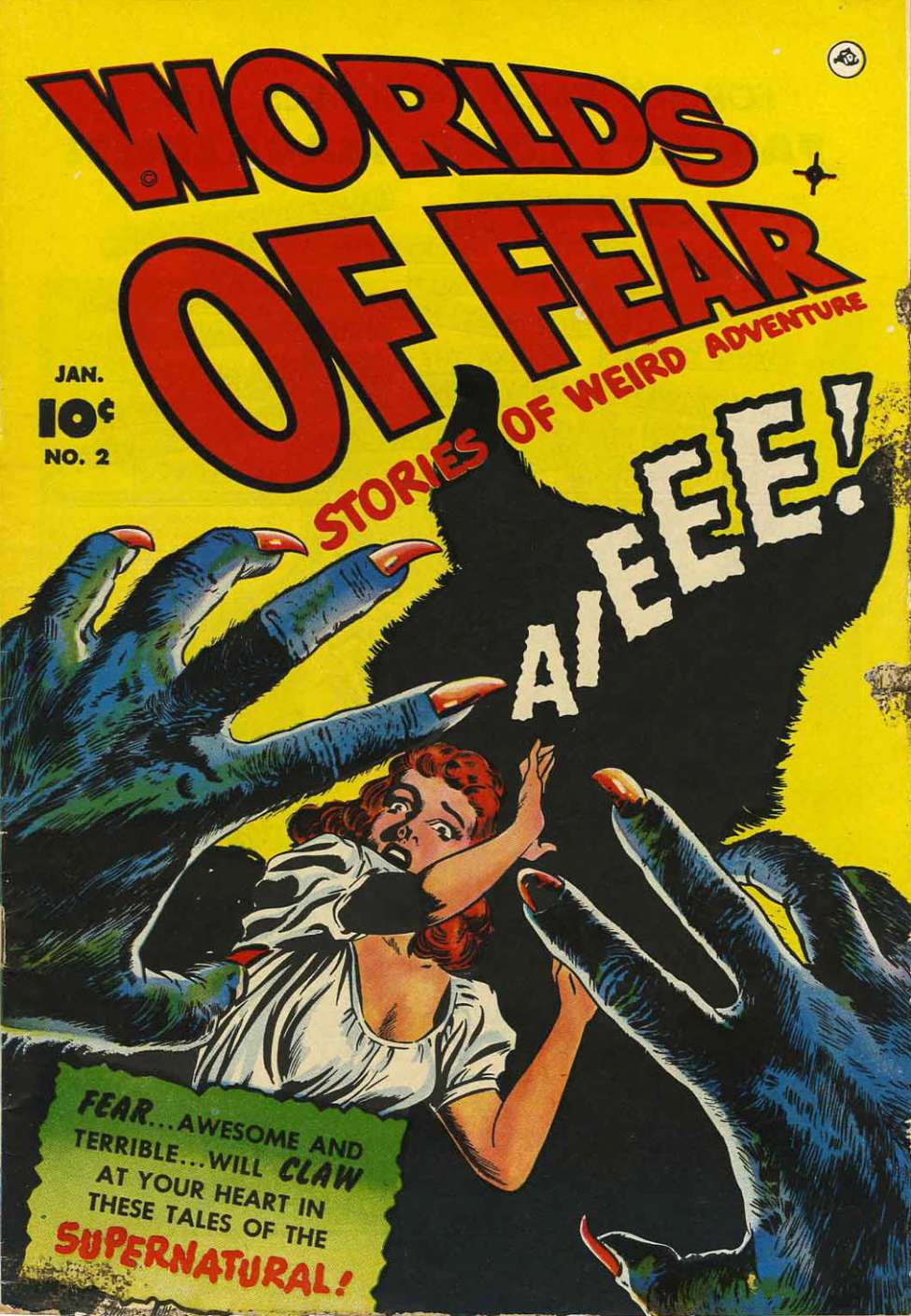 Comic Book Cover For Worlds of Fear #2