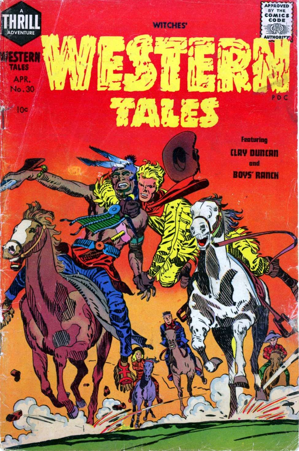 Comic Book Cover For Witches Western Tales #30