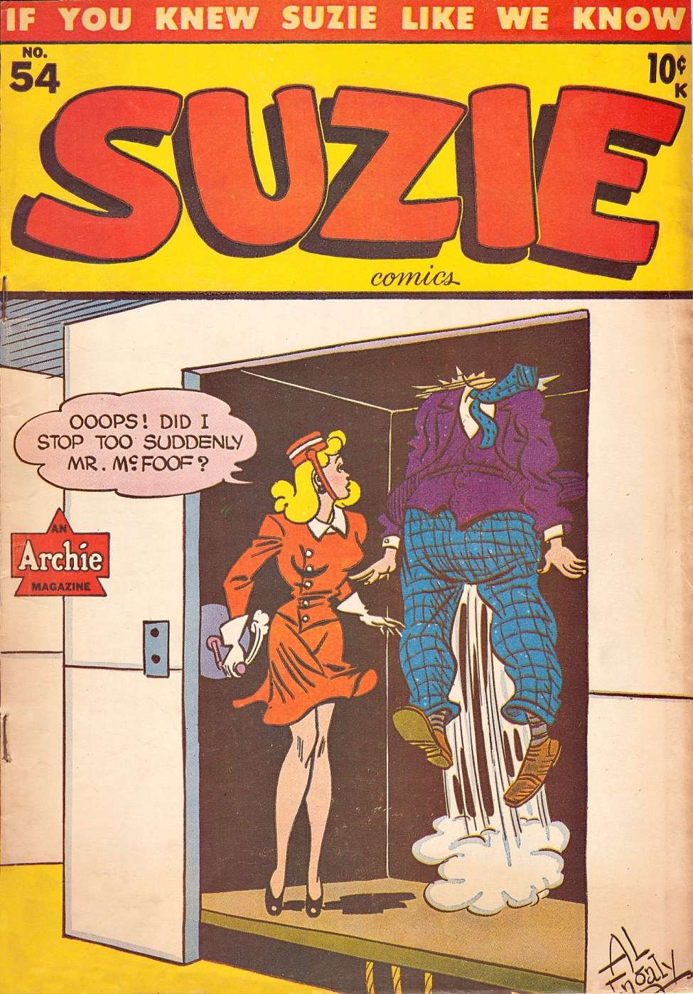 Comic Book Cover For Suzie Comics #54