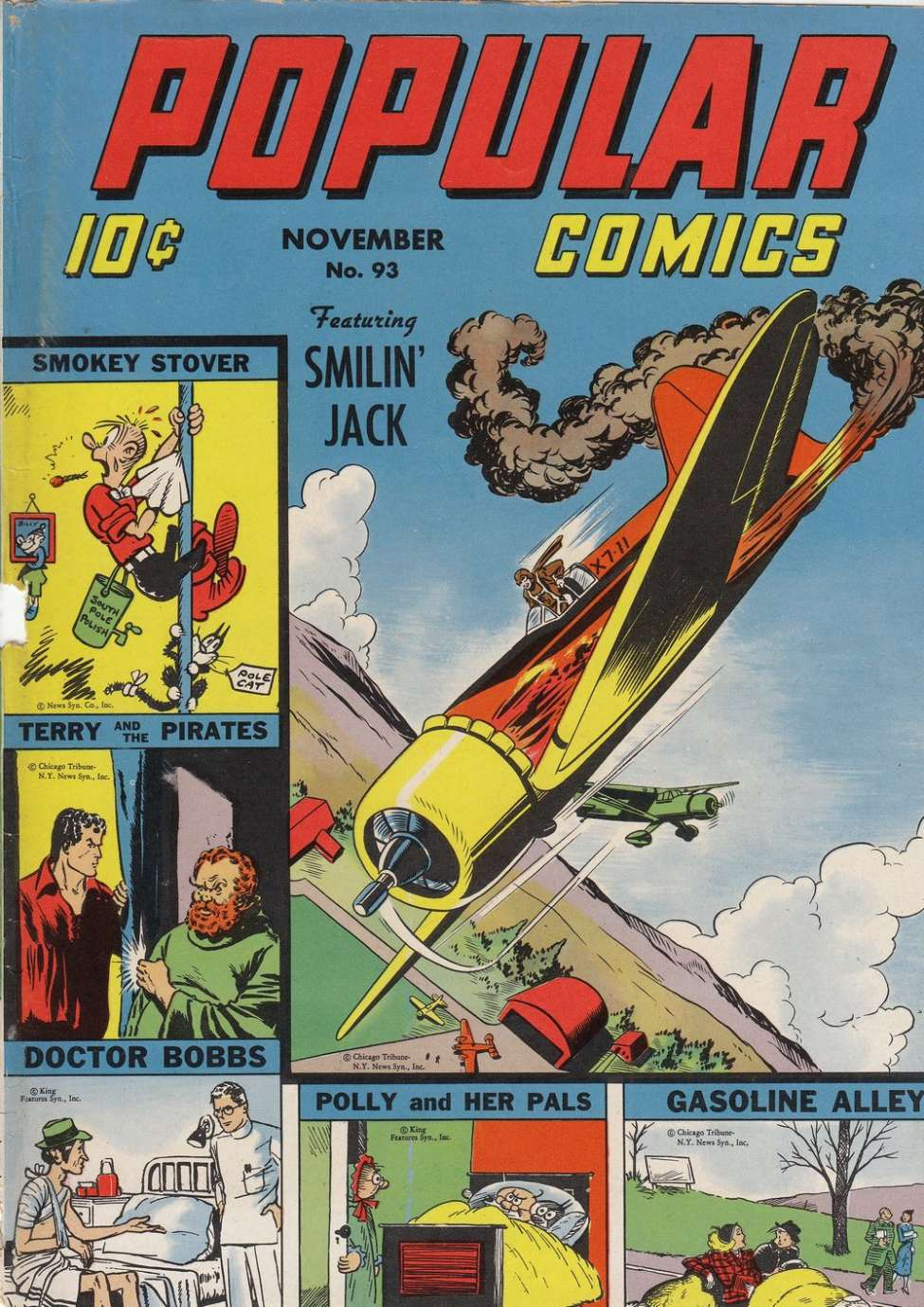 Comic Book Cover For Popular Comics #93
