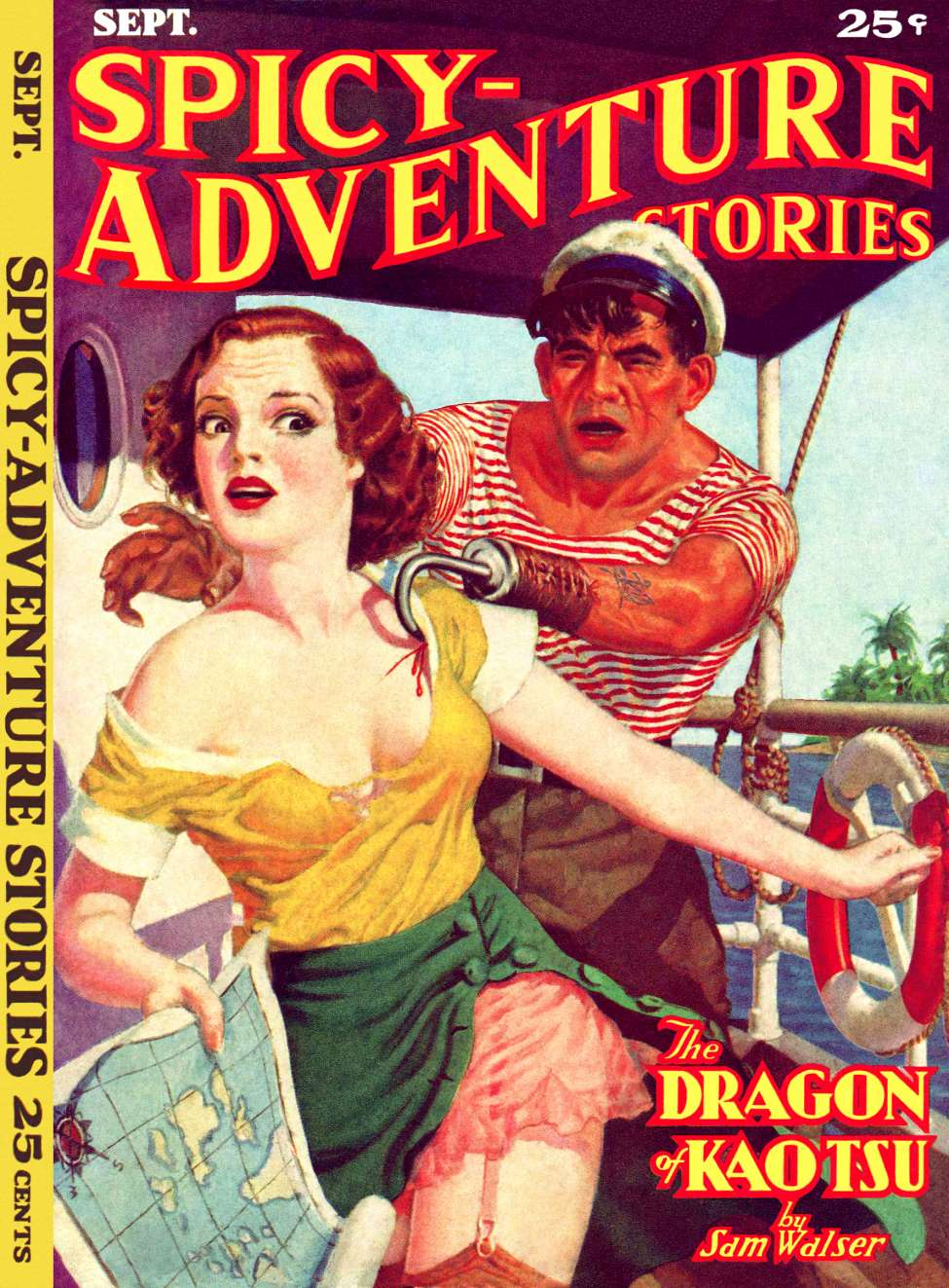 Comic Book Cover For Spicy Adventure Stories v04 06