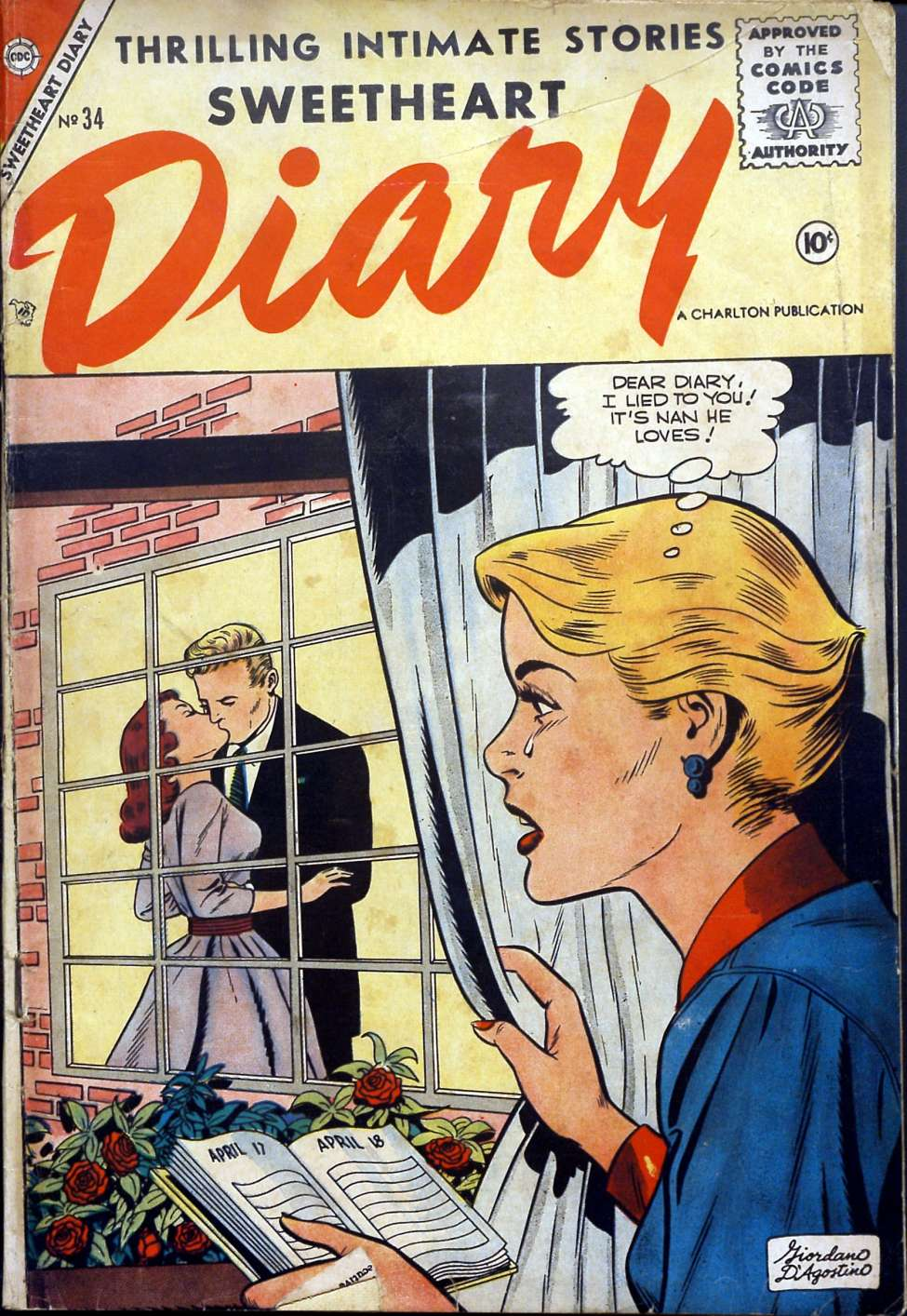 Comic Book Cover For Sweetheart Diary #34